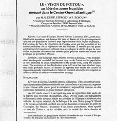 Le visón du Poitou